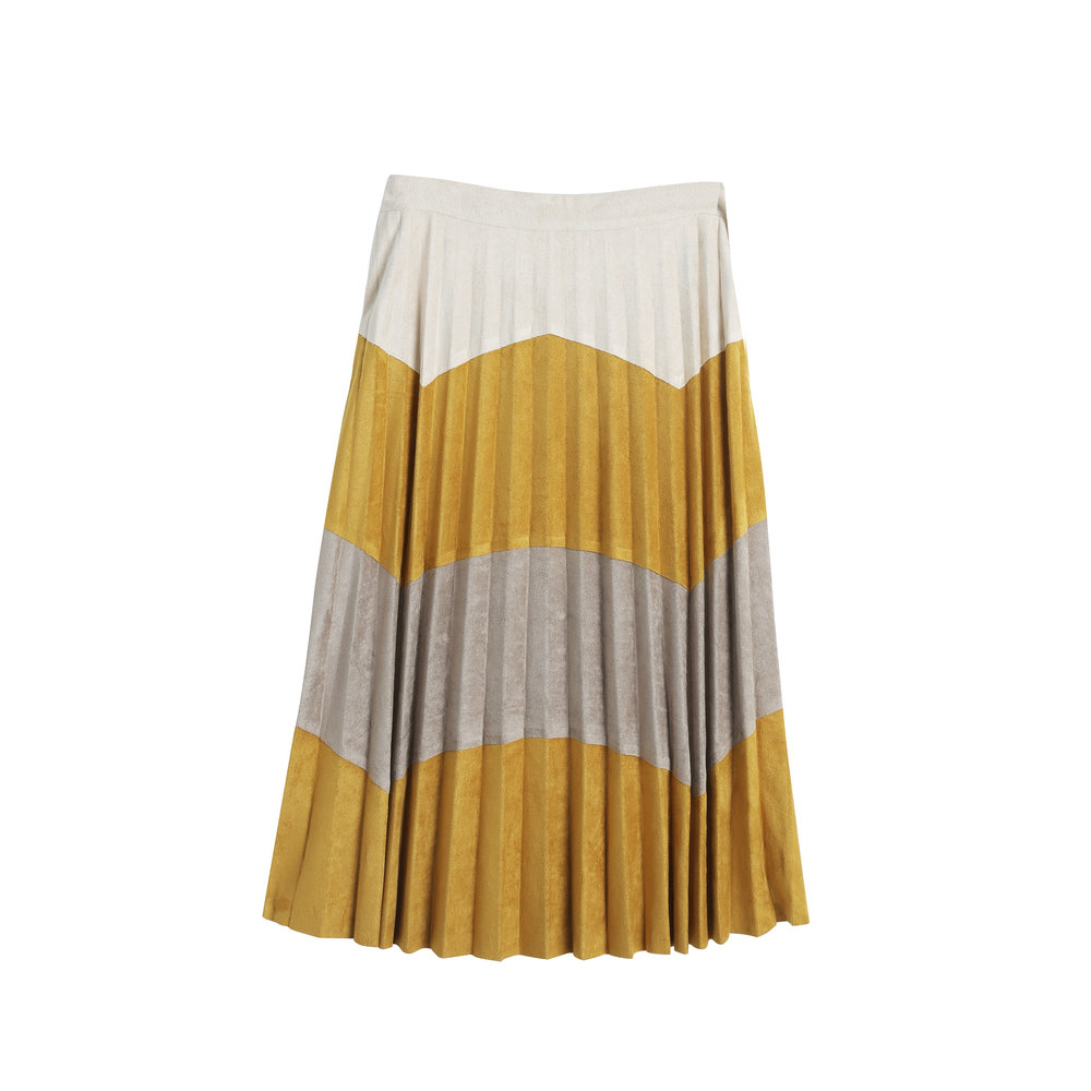 COLOR BLOCKED ELECTRIC PLEATED SKIRT.jpg