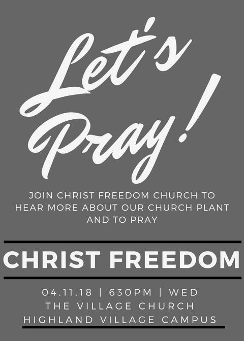 Contact Rob Daniels for more information: rob@christfreedomchurch.org