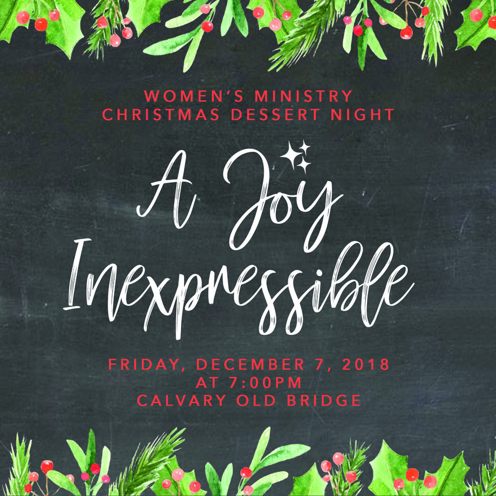 Fri, Dec 7th at 7:00pm - Women's Fellowship