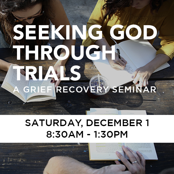 Sat, Dec 1st, 8:30am - 1:30pm - Grief Recovery
