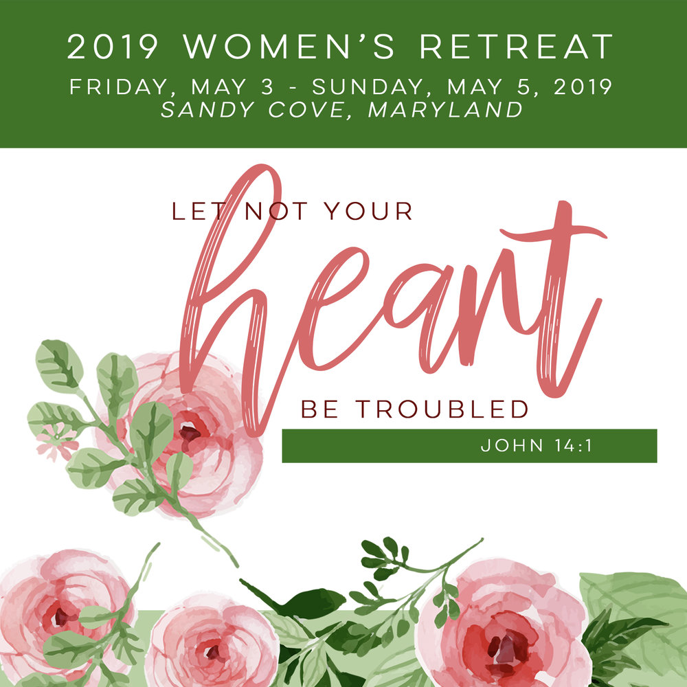 Fri, May 3rd - Sun, May 5th - Let Not Your Heart Be Troubled