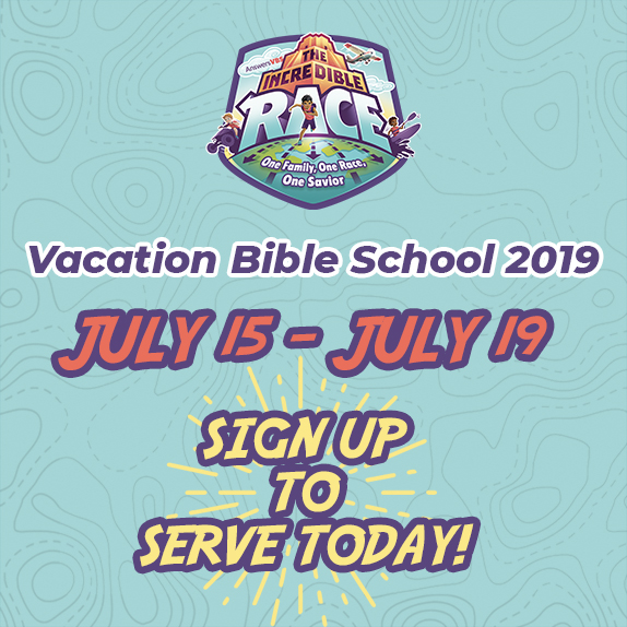 Monday, July 15th - Friday, July 19th - Opportunity to Serve