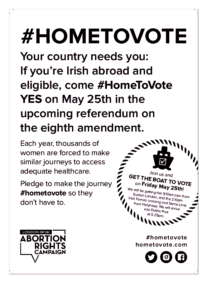 Printer Friendly #HomeToVote Flyer Front