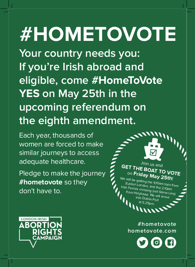 #HomeToVote Flyer Front