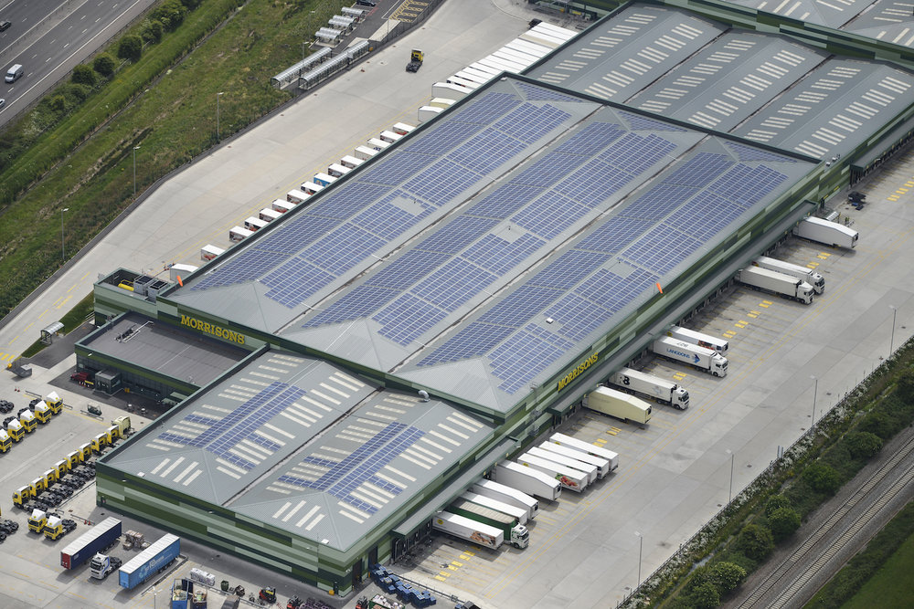 Morrison's Distribution Centre 1MW Designed in Yorkshire installed in   Bridgwater