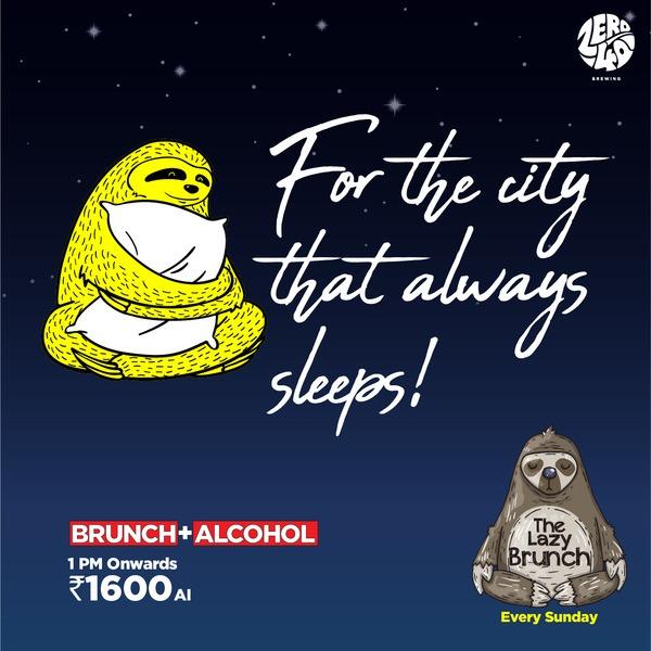 The Lazy Brunch - Every Sunday, 1-5PM
