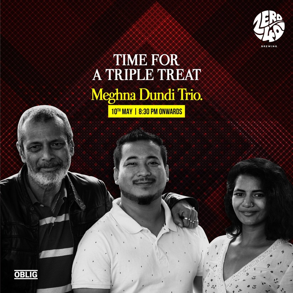 Meghna Dundi Trio Live - This Thursday (03/05/2018)