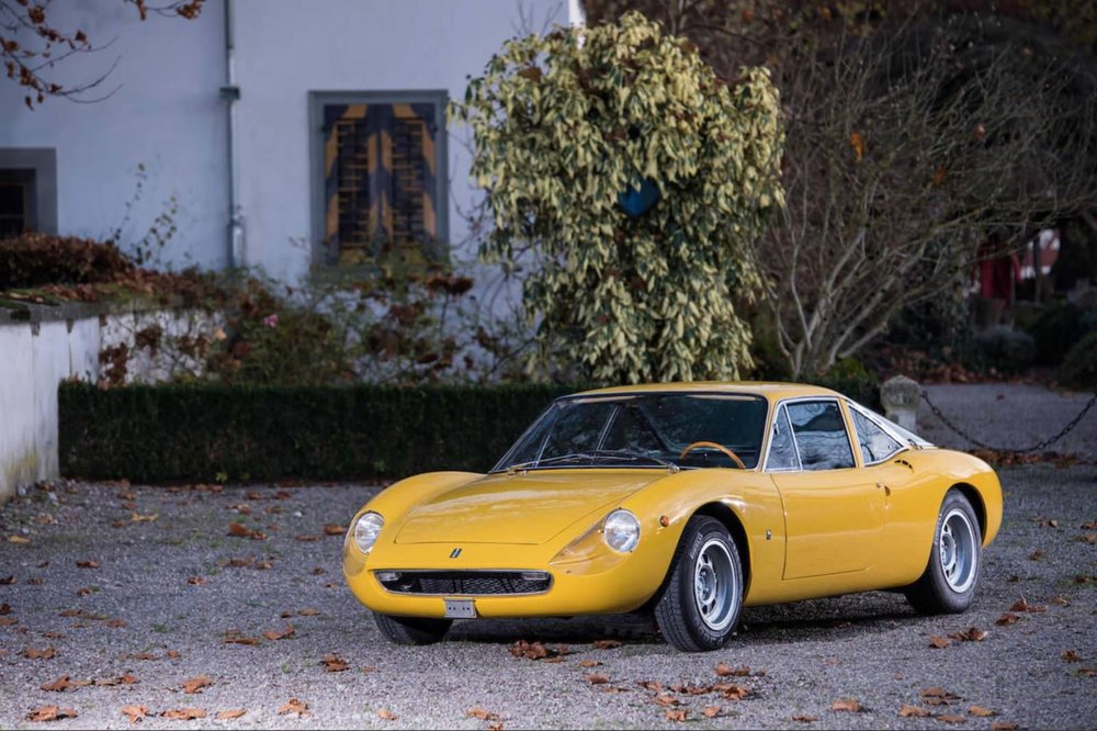 1968 De Tomaso Vallelunga.  The first De Tomaso production model restored to concours condition in 2004, achieving 2nd in Class at Villa d'Este 2004.  Images courtesy of Bonhams.