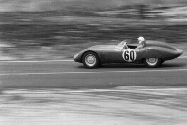 1958 12 hr at Sebring in an OSCA 750S. Alejandro and Isabelle come 8th overall and win their class.