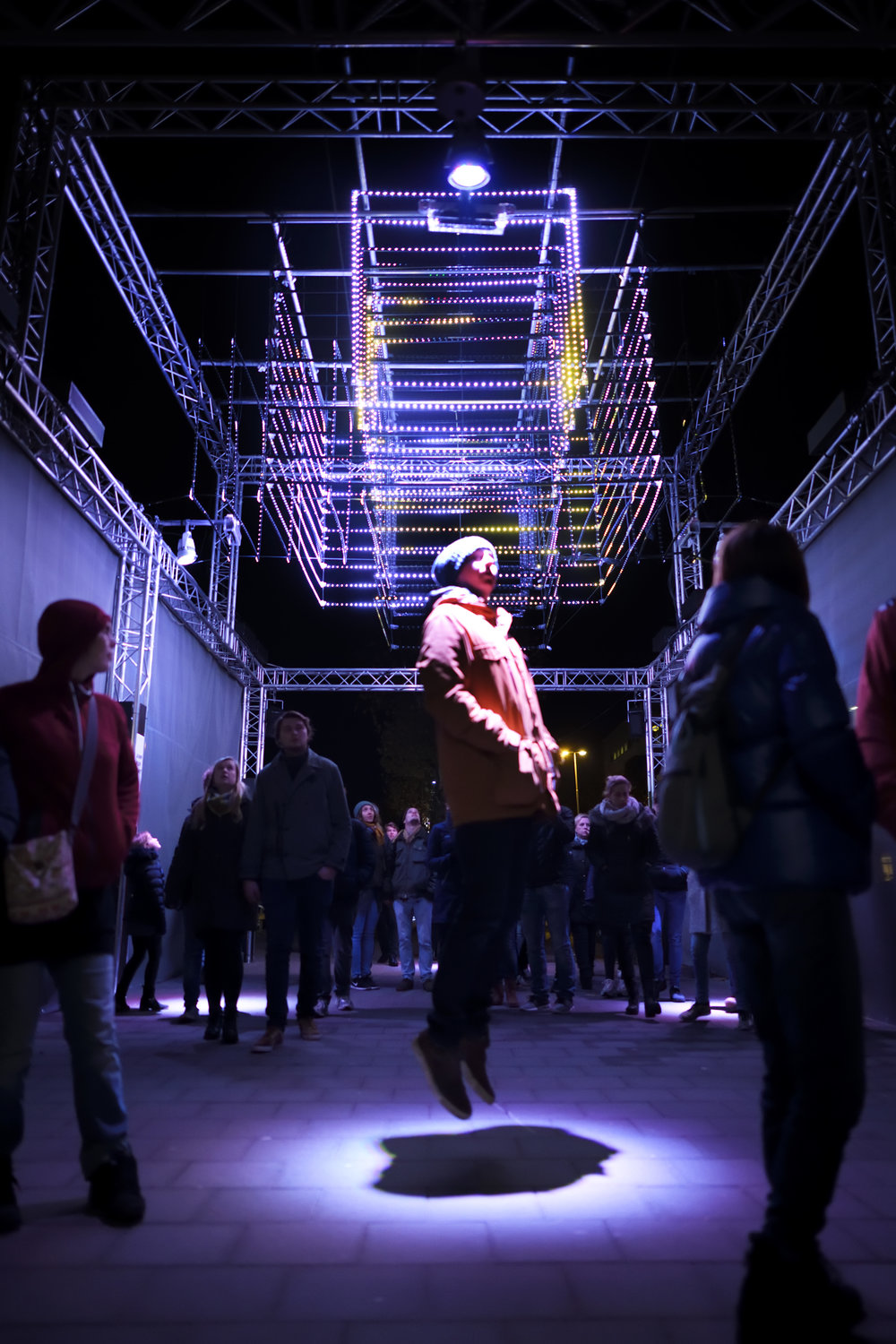 Moving Light interactive zone