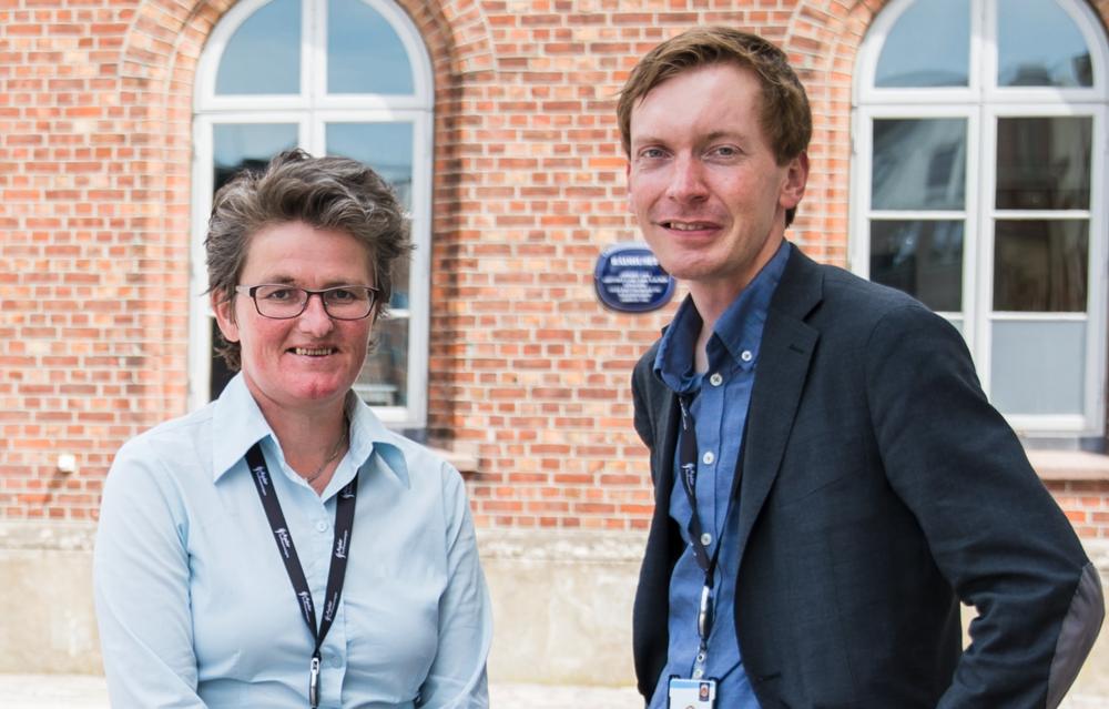 Assisterende revisjonssjef Monica Harsvik Smith-Tønnessen og statsautorisert revisor Torjus Finstad.