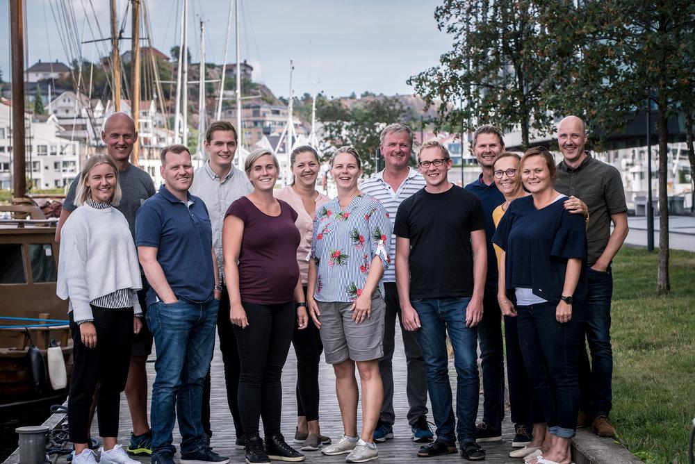 13 av 20 medarbeidere i Dagfin Skaar.