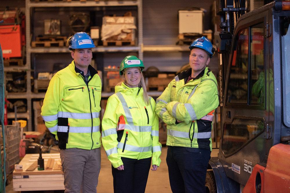 Ivrige og faglig sterke medarbeidere gleder seg til å ta imot en ny prosjektleder. Fra venstre: Kurt Hallberg Thomassen, Wenche-Elin Kråkenes og Lars Eikeland.