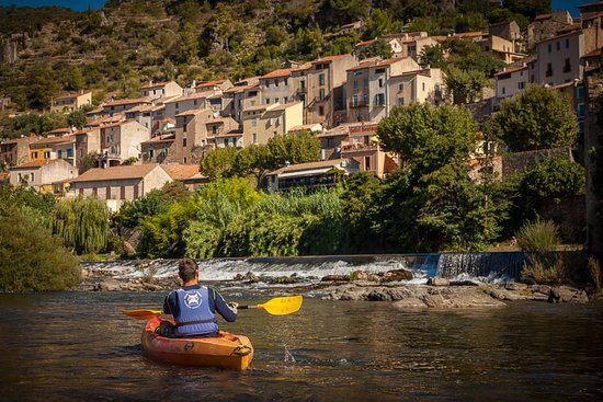 Roquebrun  - This hilltop town nestled on the river orb is great for swimming or kayaking