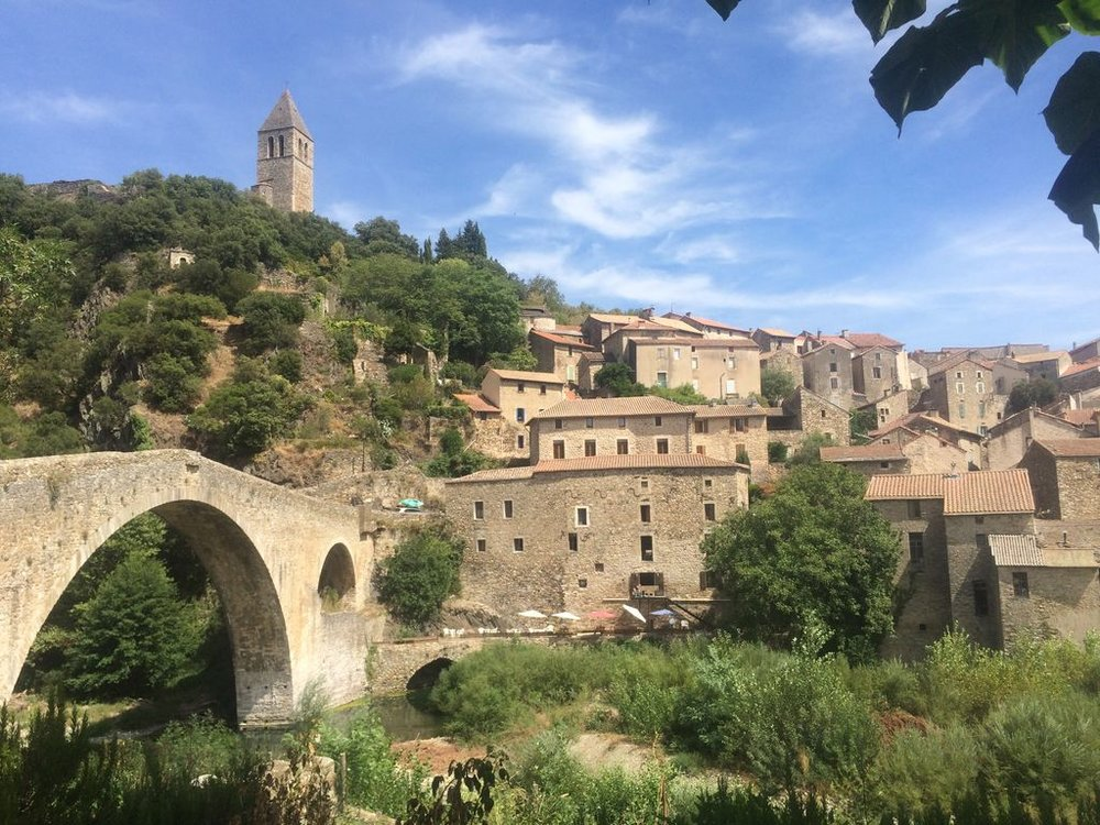 Olargues  - Known for its 'Pont du Diable' bridge, this pretty village lies high up in the Black Mountains