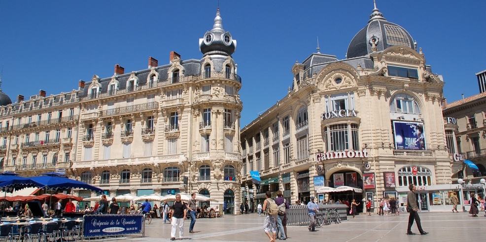 Montpellier  - This vibrant cultural city offers beautiful architecture, promenades, outdoor cafés and plentiful leafy squares