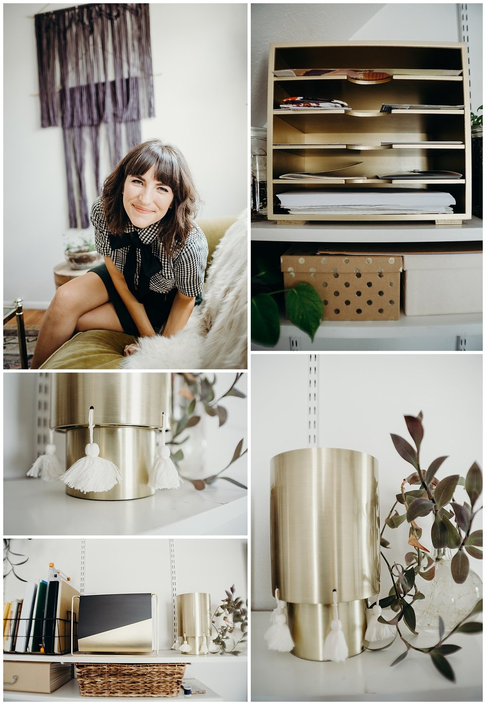 Target Nate Burkus Lamp in Home Office Tour for Stacie Stine Lifestyle Blog