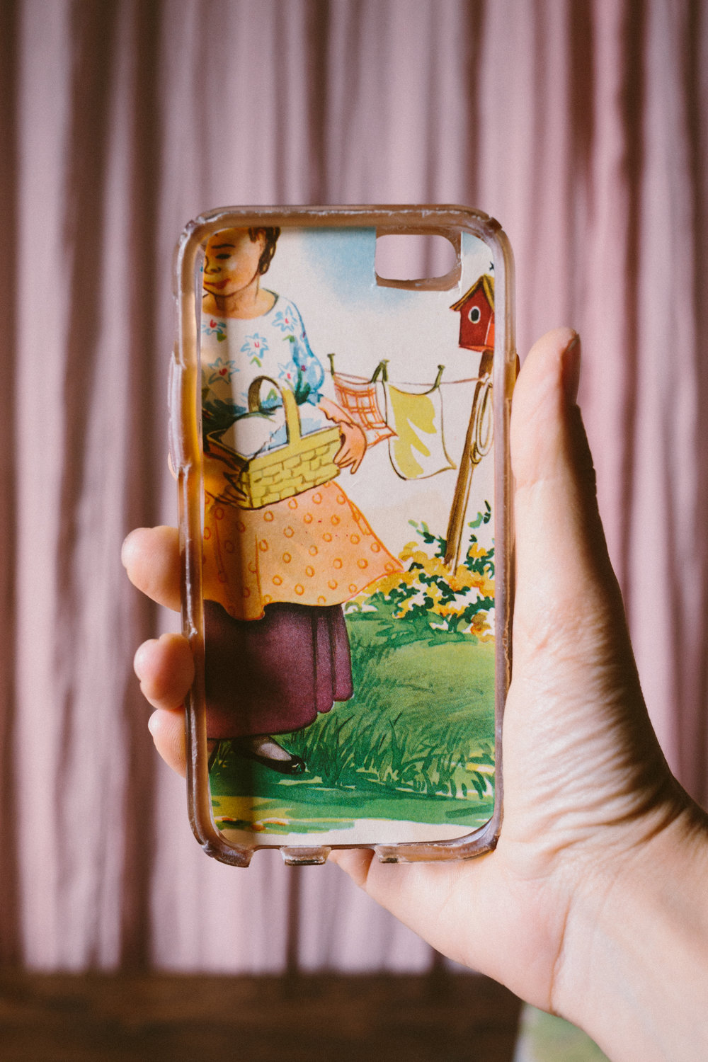 4. Once you've cut your image to the correct size, carefully place it inside your iphone and make sure everything lines up. Once it fits to your liking, wedge your iphone into it's case and BADA BING BADA BOOM. You've got yourself a trendy, fun, new, personalized iphone case!