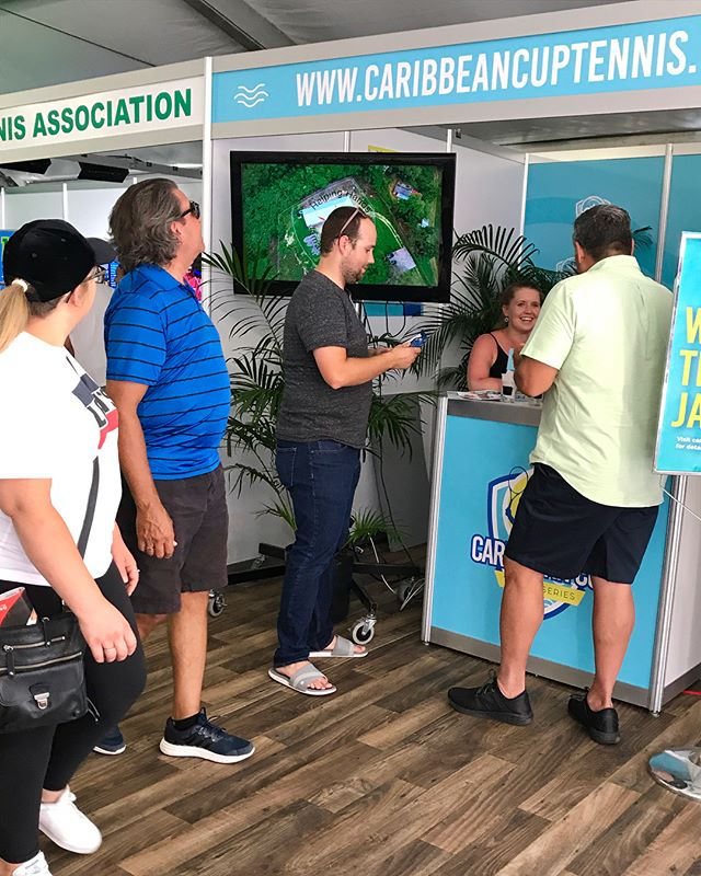We've met so many amazing people this afternoon during our final day at Rogers Cup! The deadline to enter our free trip giveaway is TODAY!! Stop by our booth or visit caribbeancuptennis.com to enter! #tennis #giveaway #caribbean
