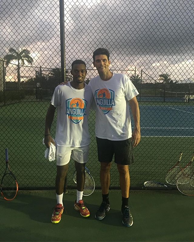 We had the privilege of hosting a great exhibition tonight at the Anguilla Tennis Academy, featuring @mphilippoussis & @tennisdarian. Thank you to everyone that came out and supported! • • • •  #tennis #travel #anguilla #atp #exhibition