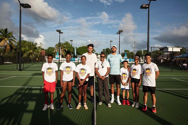 We work hard to bring great islands in the Caribbean world class exhibition matches like we did this past Sunday in Antigua. Thanks again to @mphilippoussis & @jodymaginley ✌️ #exhibition #tennis #atp #Caribbean #antigua #travel #tourism