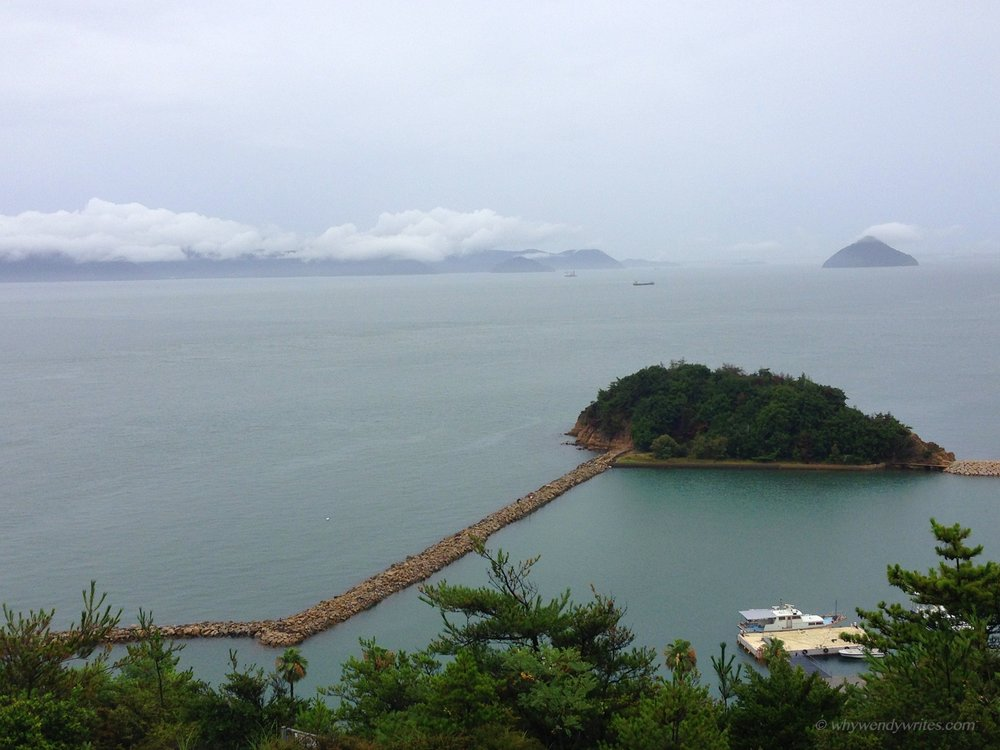 Scenic view of Seto Inland Sea from Chichu Café (Chichu Art Museum's Chichu Café)