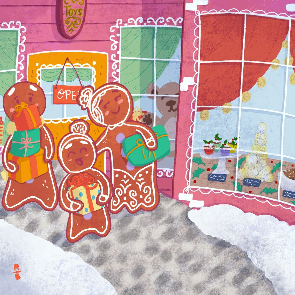 Just Gingerbreads in a Gingerbread Town