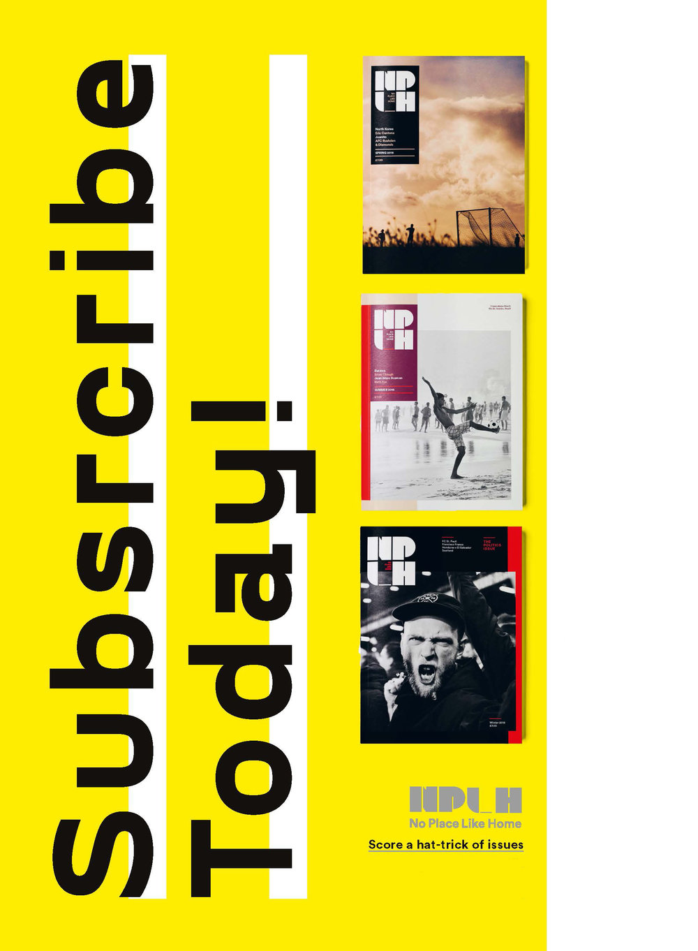 SUBSCRIBE TO THREE ISSUES OF NPLH.