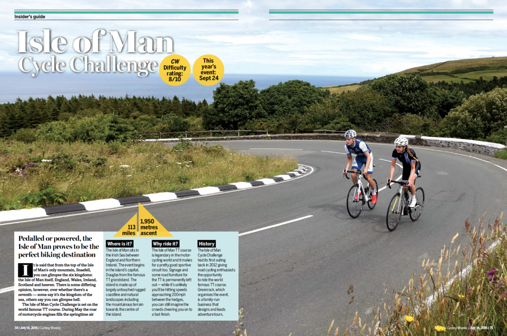Cycling Weekly 4 page article