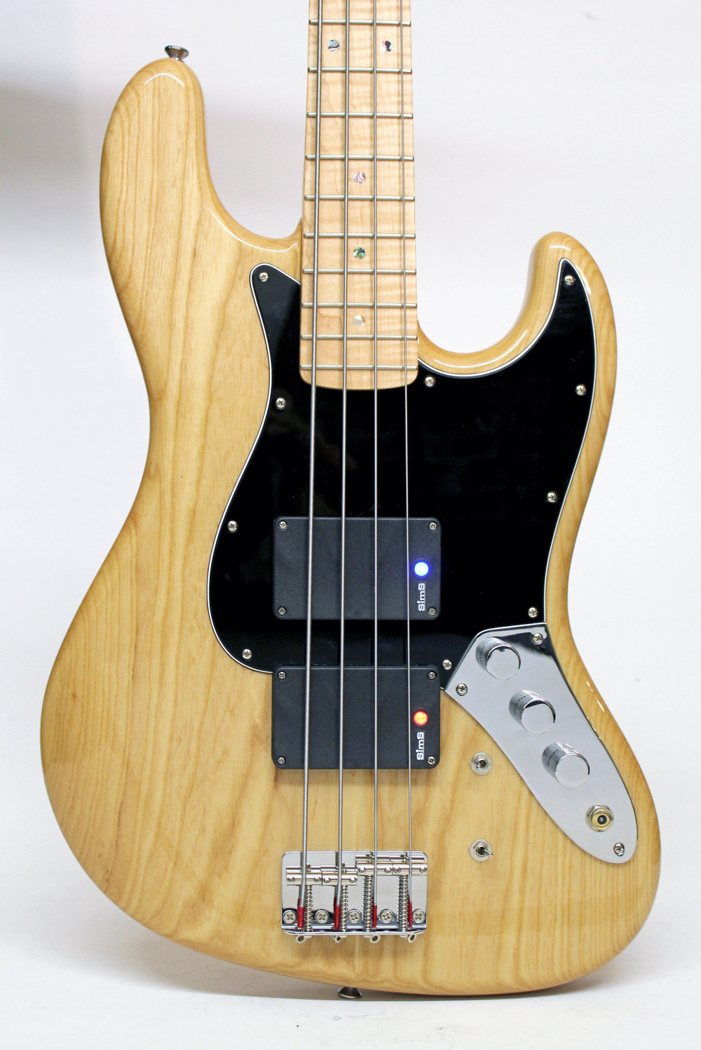 Enfield Avenger J Jazz Bass Natural Super-Quad Pickups