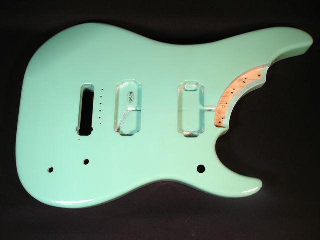 Custom Guitar Seafoam Green Finish