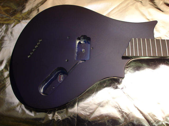 Custom Guitar Black Respray