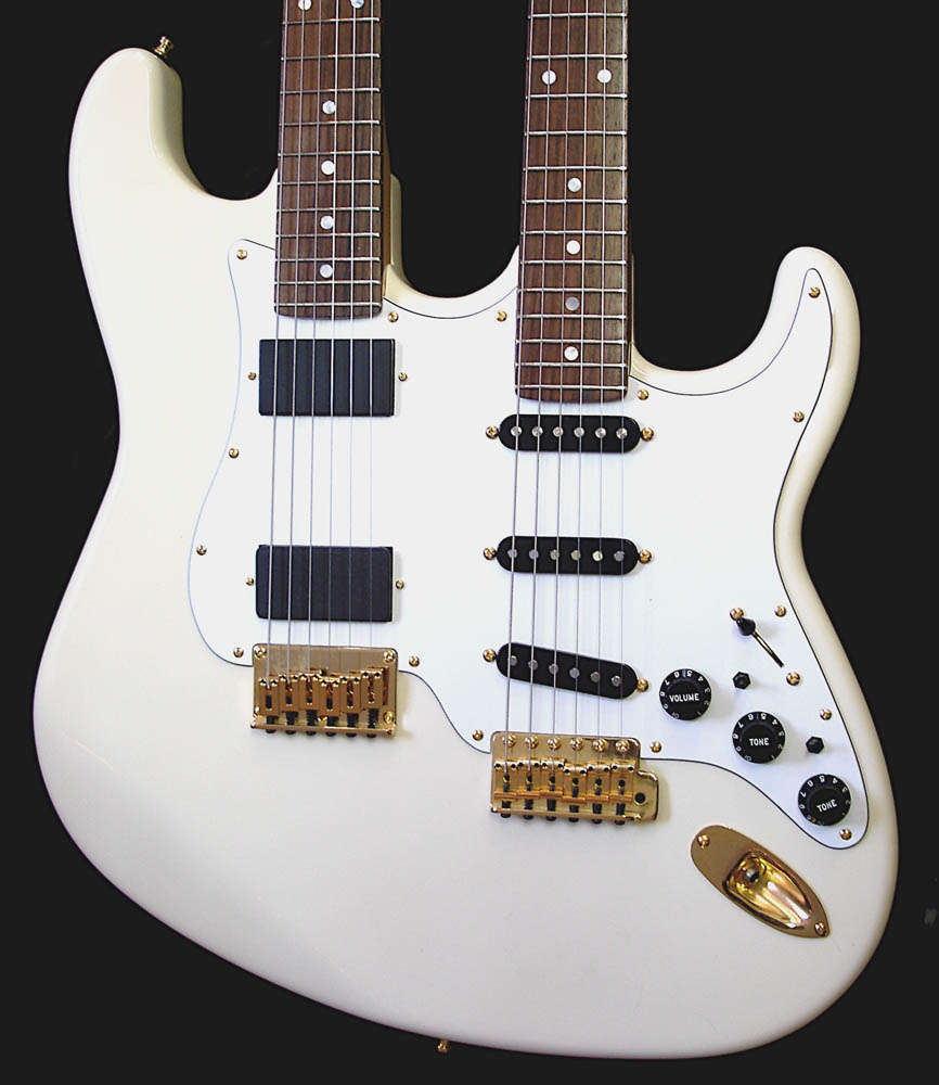 White Custom Double Neck Guitar