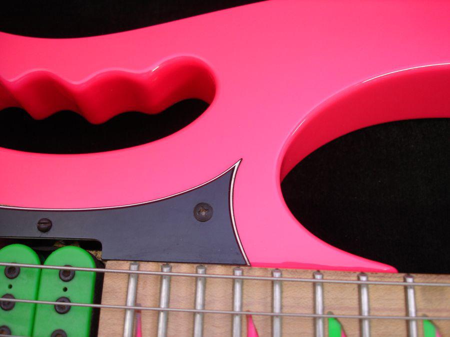 Rose Neon Pink Custom Ibanez Jem