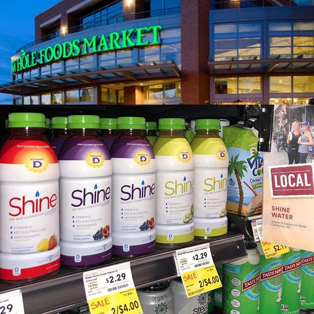 Put some Spring in your step... and hustle on over to your local @wholefoods South store (NC, SC, GA, TN, AL, MS) #ShineWater on sale now through April 30. ☀️💦💪🏼#getsome  #thenewhydration #physiciandeveloped #electrolytes #vitamind #nosugar #stayhydrated