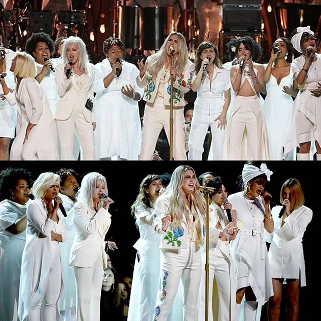what an incredible and important performance from @iiswhoiis and co. . #music #2018gramnys #grammys #praying #timesup #metoo #throwback #kesha #rainbow #hymn #recordingacademy #singer #singers #songwriter #songwriters #juliamichaels #rnb #singersongwriter #producer #musicproducer #musicproduction #musicproducers #beberexha #rhythmandblues #popmusic #songs #song #popmusic #pop #rihanna
