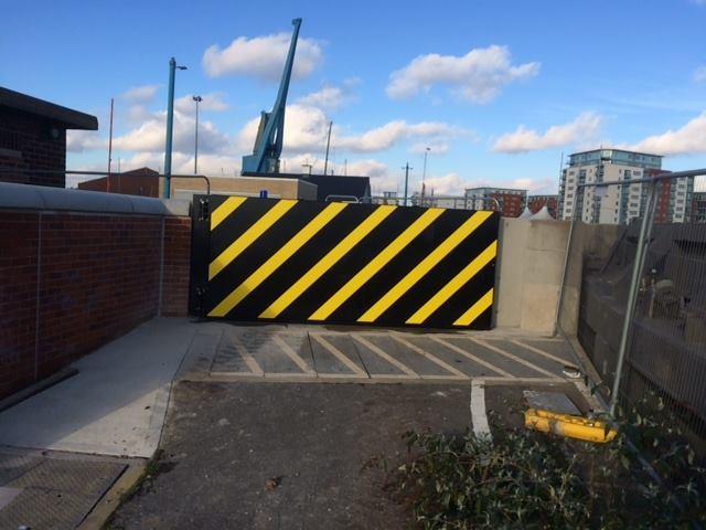 !st Defence flood Gate Installed