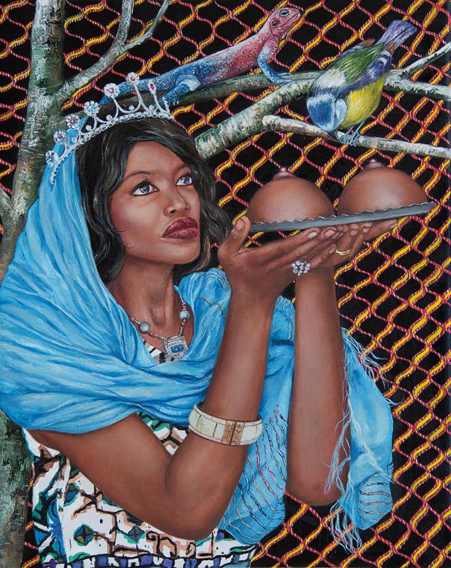 Sainte Agathe de Catane    - 2017  Oil on canvas, 50 x 40 cm