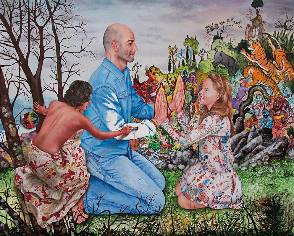Karma    - 2017  Oil on canvas, 81 x 100 cm