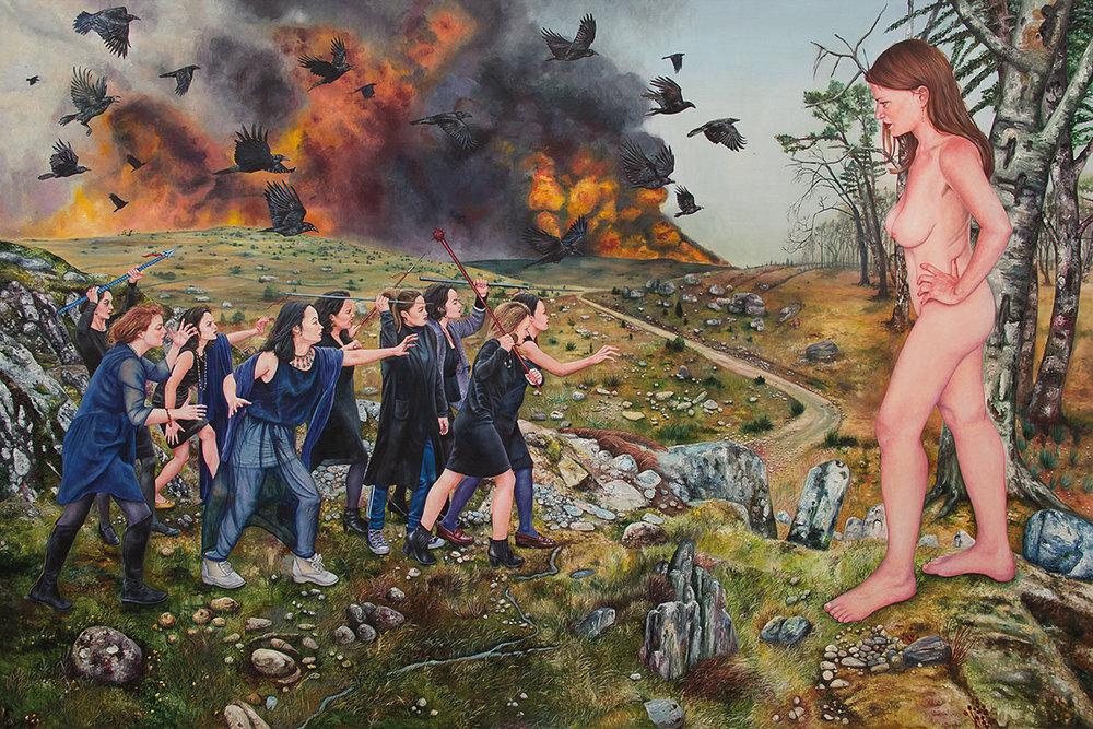 Le soulèvement des âmes noires    - 2016  Oil on canvas, 190 x 295 cm