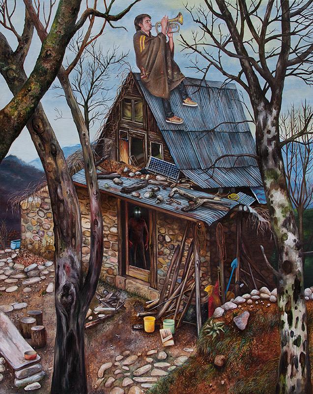 Jour de silence - 2014  Oil on canvas,162 x 130cm