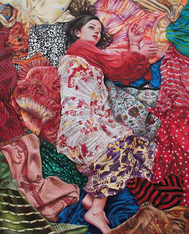 L'indécise - 2014  Oil on canvas,100cm x 81cm