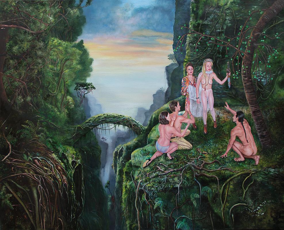 La Saint Jean    -  2014  Oil on canvas,160 x 200cm