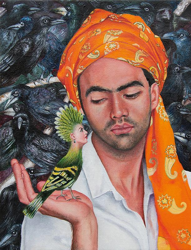 Le jardin exalté   -2014  Oil on canvas,35cm x 27cm