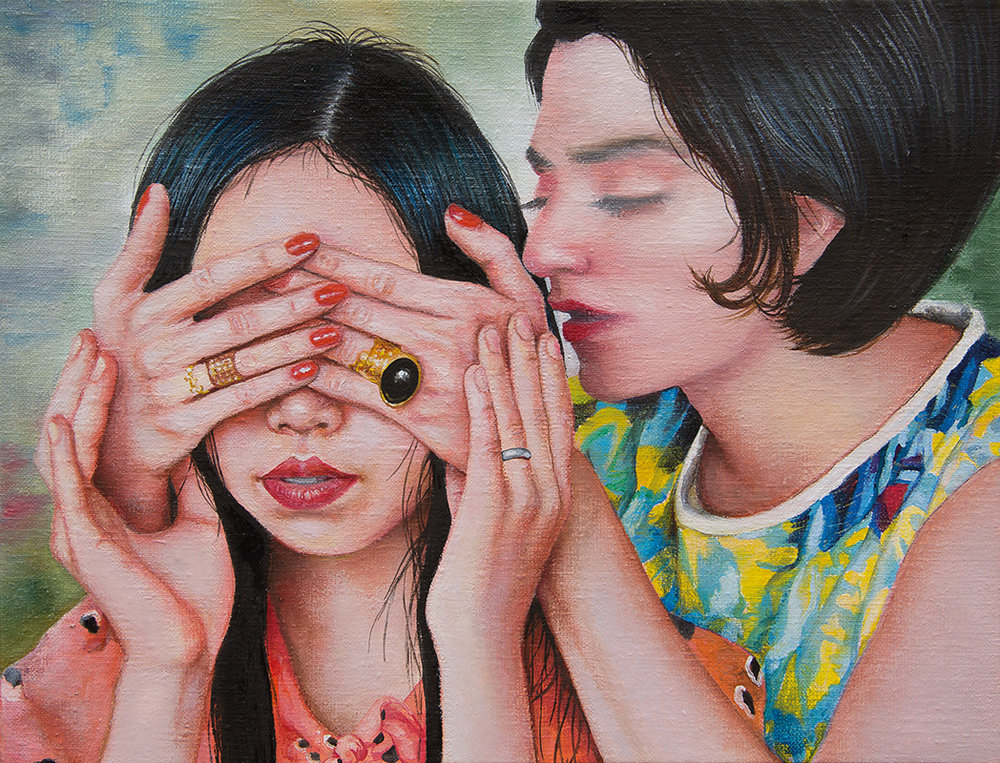 Mademoiselle Fifi  - 2014  Oil on canvas, 27 x 35cm