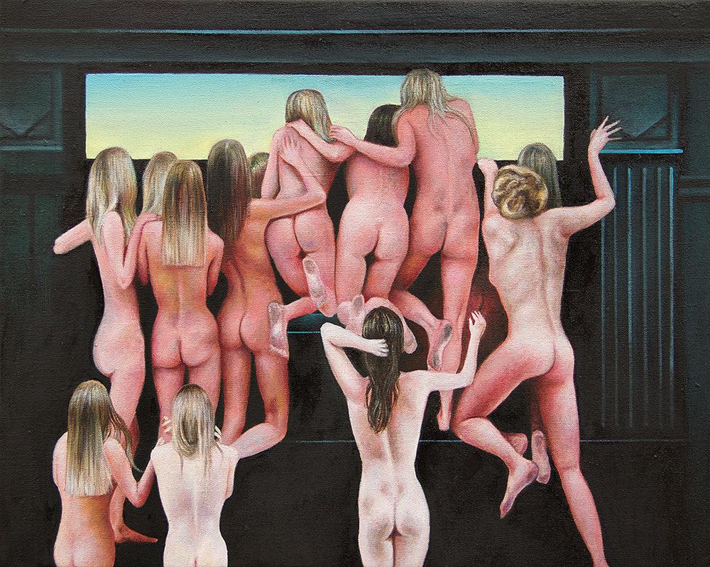 Eden    -2013  Oil on canvas,40 x 50cm