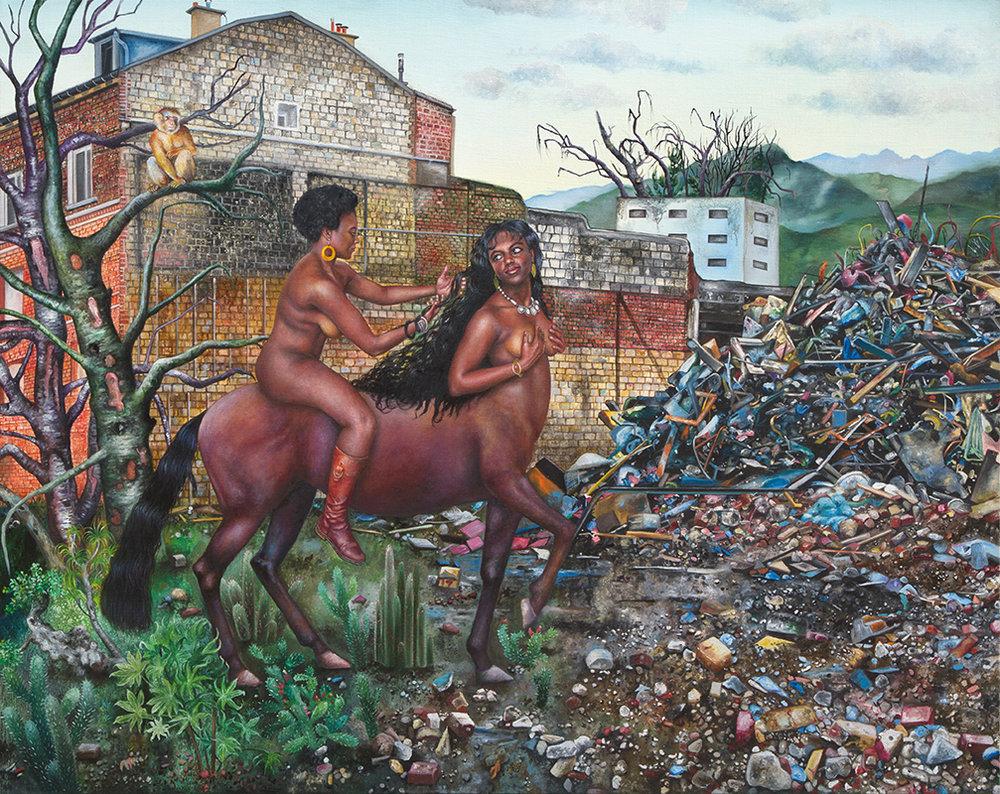 Incendie noir    -2012  Oil on canvas,160 x 200cm