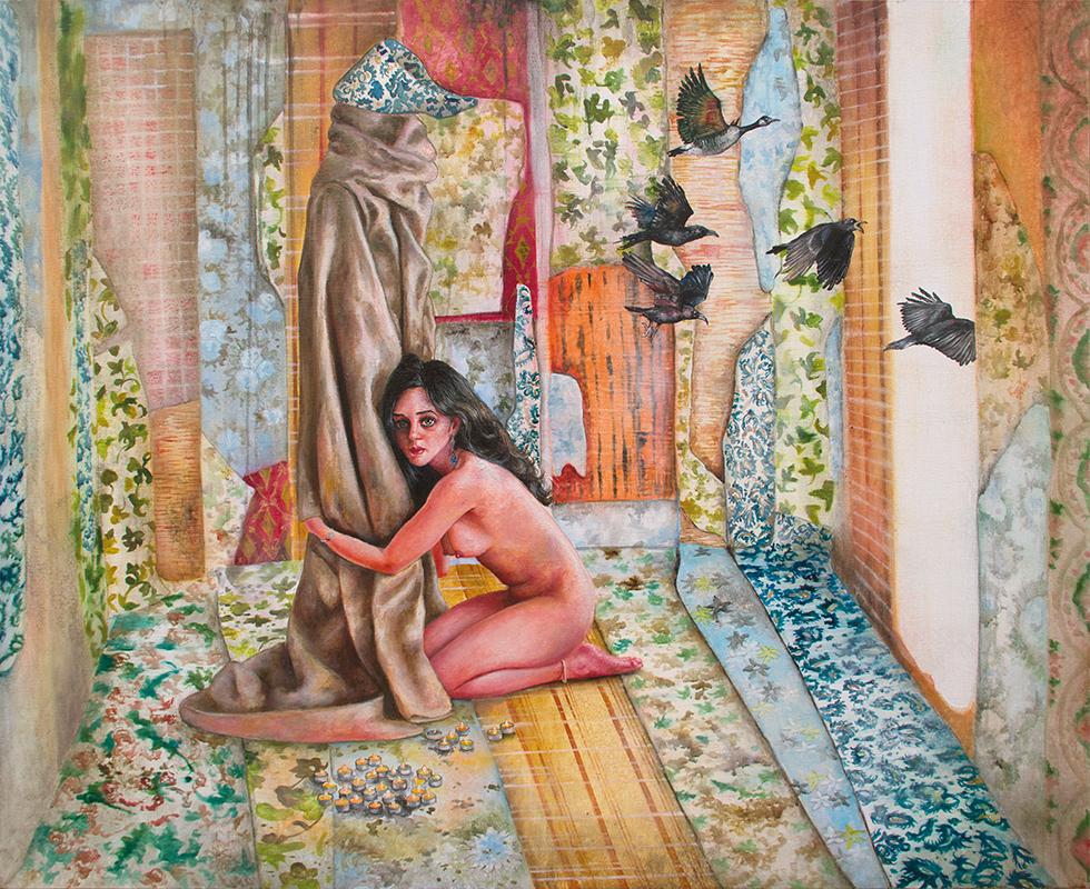 La cabane du pêcheur    -2012  Oil on canvas,81 x 100cm