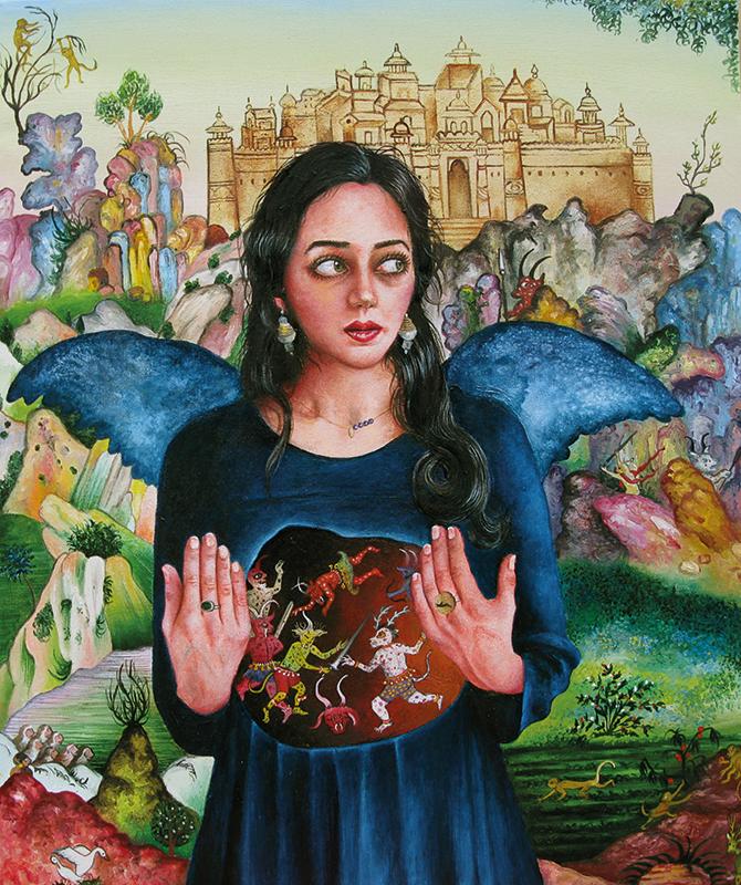 La légende oubliée    -2012  Oil on canvas, 54 x 65cm