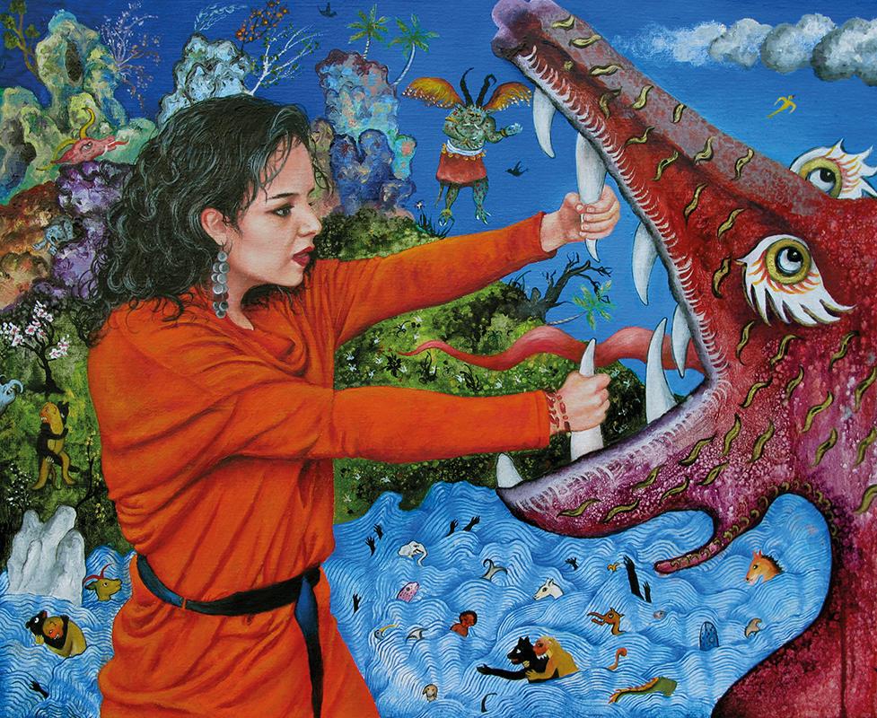 Sainte Ghazal  - 2012  Oil on canvas, 50 x 61cm